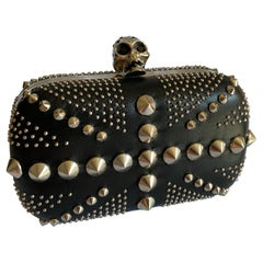 Alexander McQueen Studded Union Jack Skull Box Clutch
