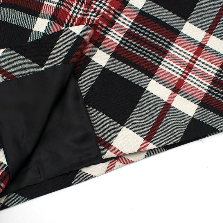 Alexander McQueen Tartan Wool Pencil Skirt Size 40 For Sale 2