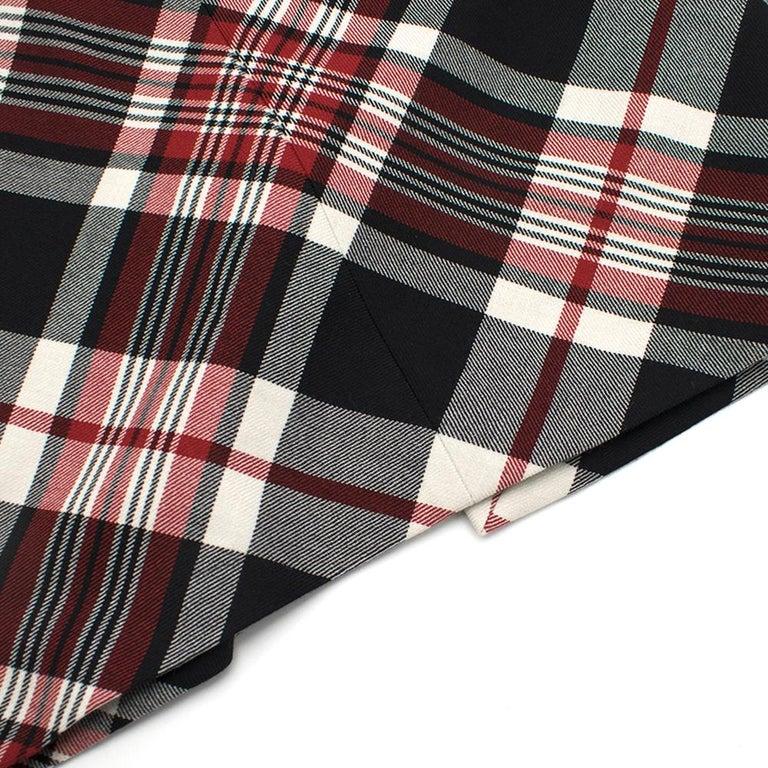 Alexander McQueen Tartan Wool Pencil Skirt Size 40 For Sale 3