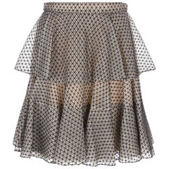 Alexander McQueen Tiered Lace Mini Skirt