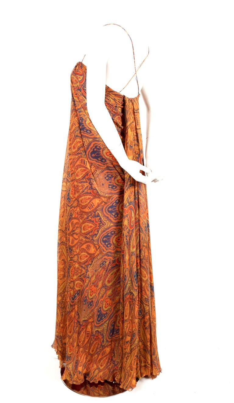 Brown Alexander McQueen Unworn paisley silk chiffon strapless dress, 2009 For Sale