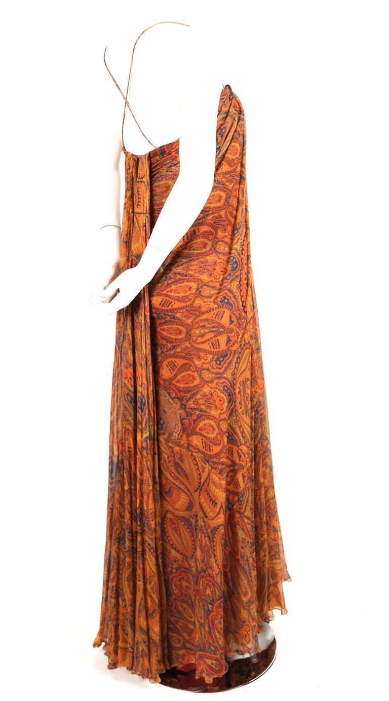 Alexander McQueen Unworn paisley silk chiffon strapless dress, 2009 In Excellent Condition For Sale In San Fransisco, CA