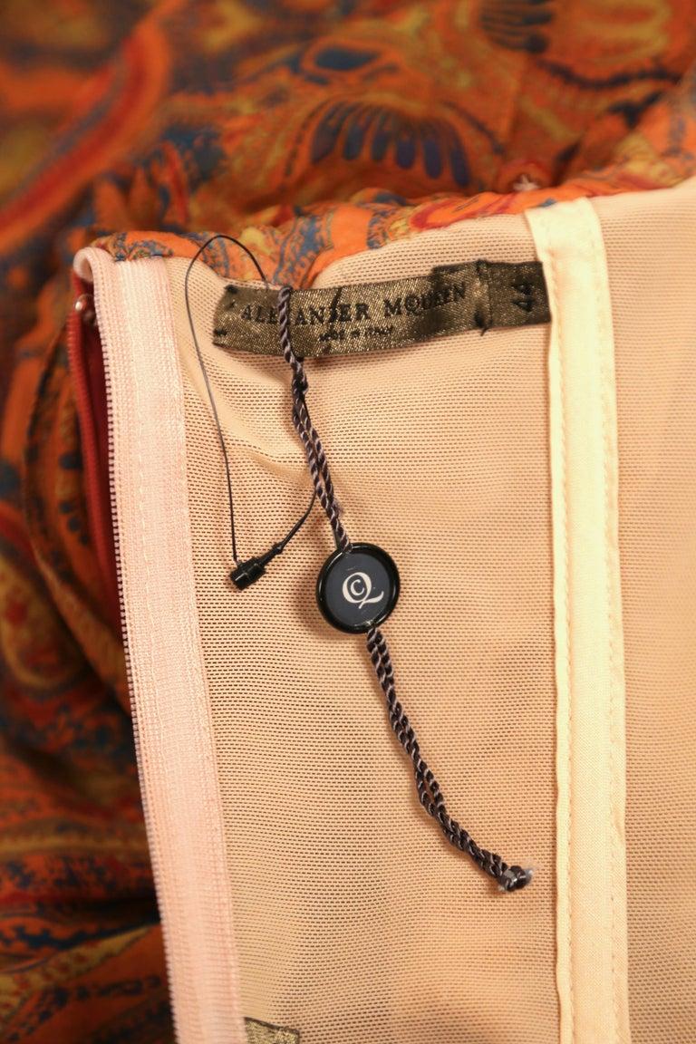 Alexander McQueen Unworn paisley silk chiffon strapless dress, 2009 For Sale 1