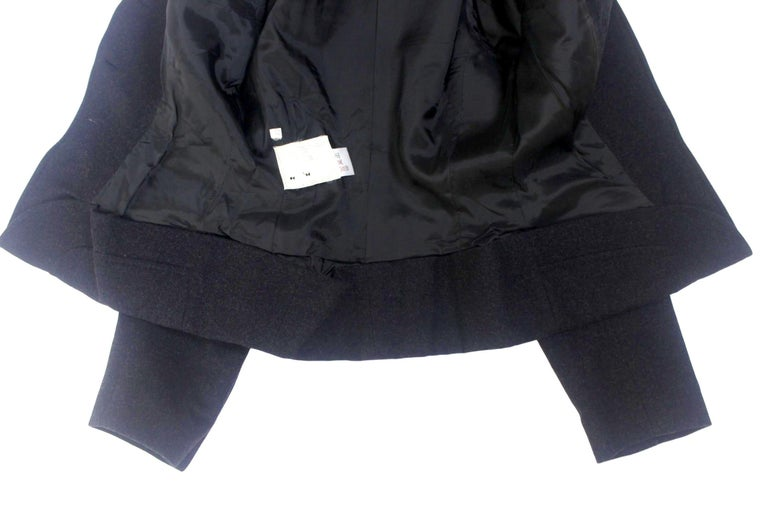 Alexander McQueen Vintage Black Wool and Cashmere Jacket For Sale 6