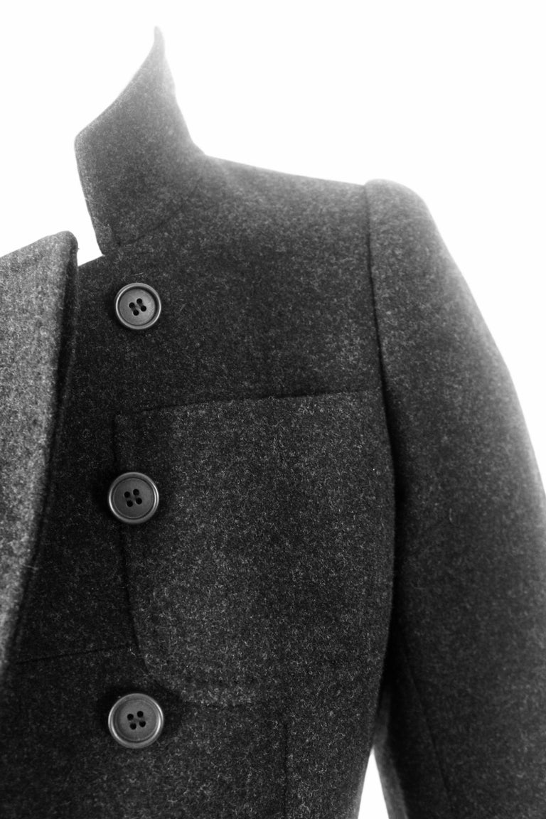 Alexander McQueen Vintage Black Wool and Cashmere Jacket For Sale 4