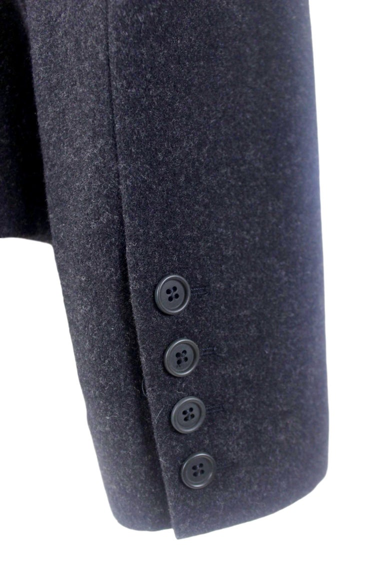 Alexander McQueen Vintage Black Wool and Cashmere Jacket For Sale 5