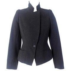 Alexander McQueen Vintage Black Wool and Cashmere Jacket