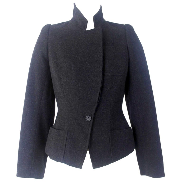 Alexander McQueen Vintage Black Wool and Cashmere Jacket For Sale