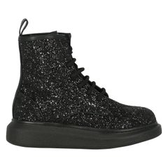 Alexander Mcqueen Woman Ankle boots Black Leather IT 38