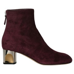Alexander Mcqueen Woman Ankle boots Purple Leather IT 37