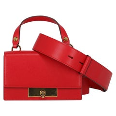 Alexander Mcqueen Woman Handbag Red Leather