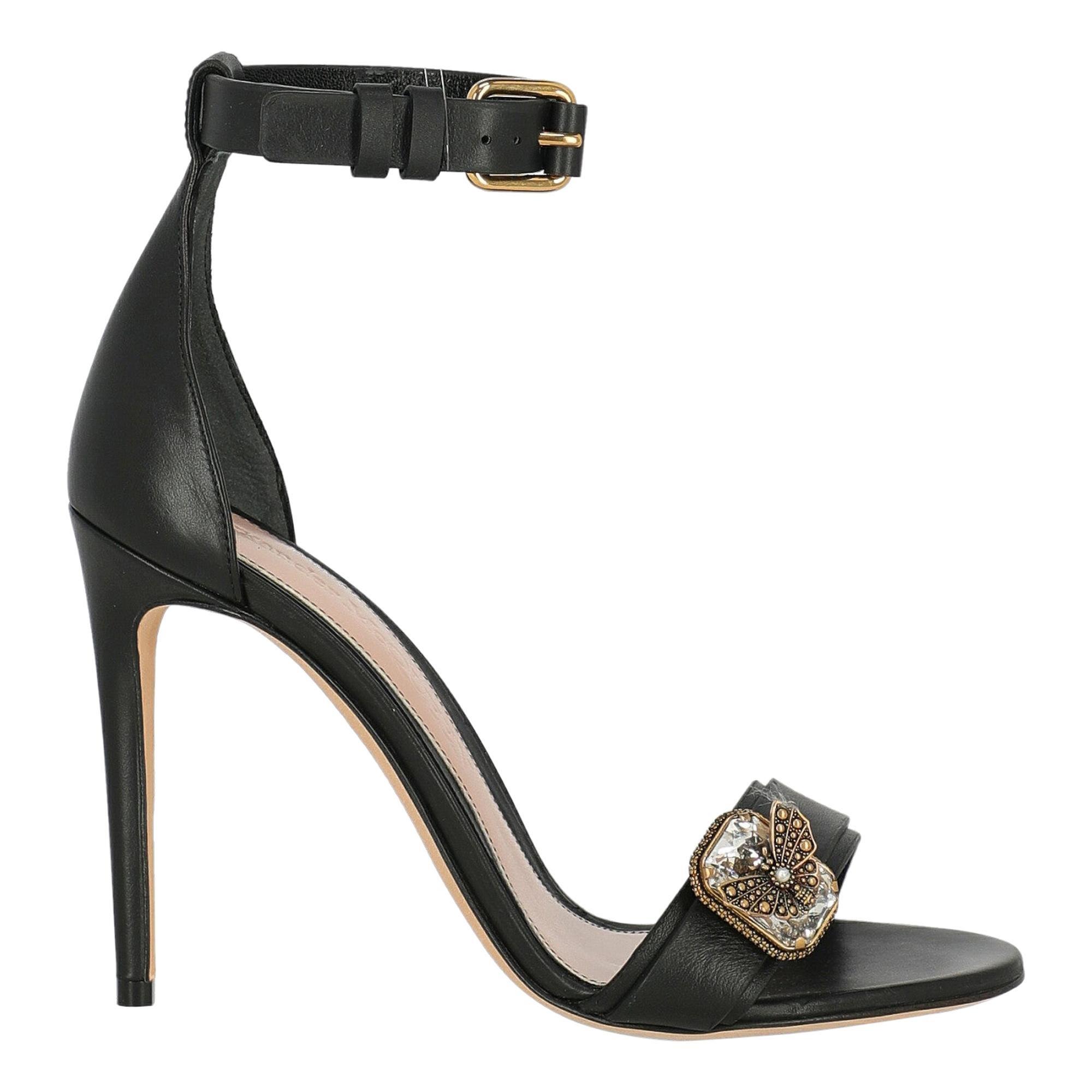 Alexander Mcqueen Woman Sandals Black Leather IT 37