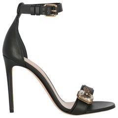 Alexander Mcqueen Woman Sandals Black Leather IT 39