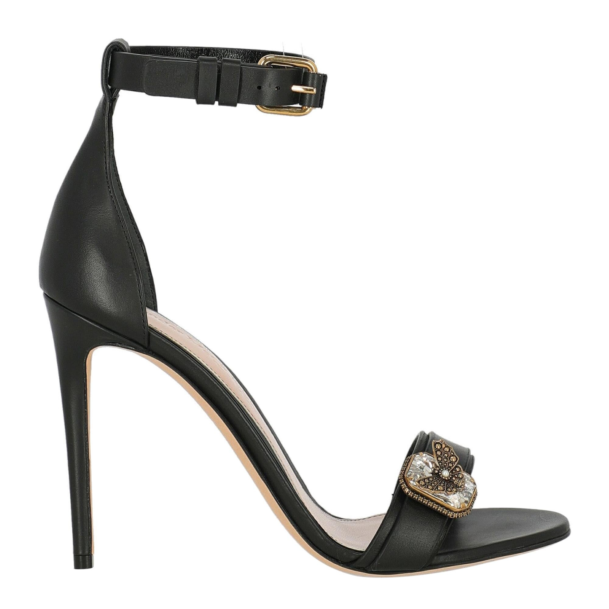 Alexander Mcqueen Woman Sandals Black Leather IT 40