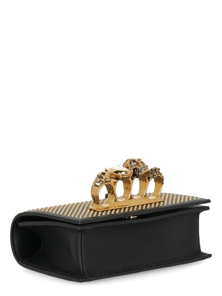 Alexander Mcqueen Woman Shoulder bag  Black Leather For Sale 1
