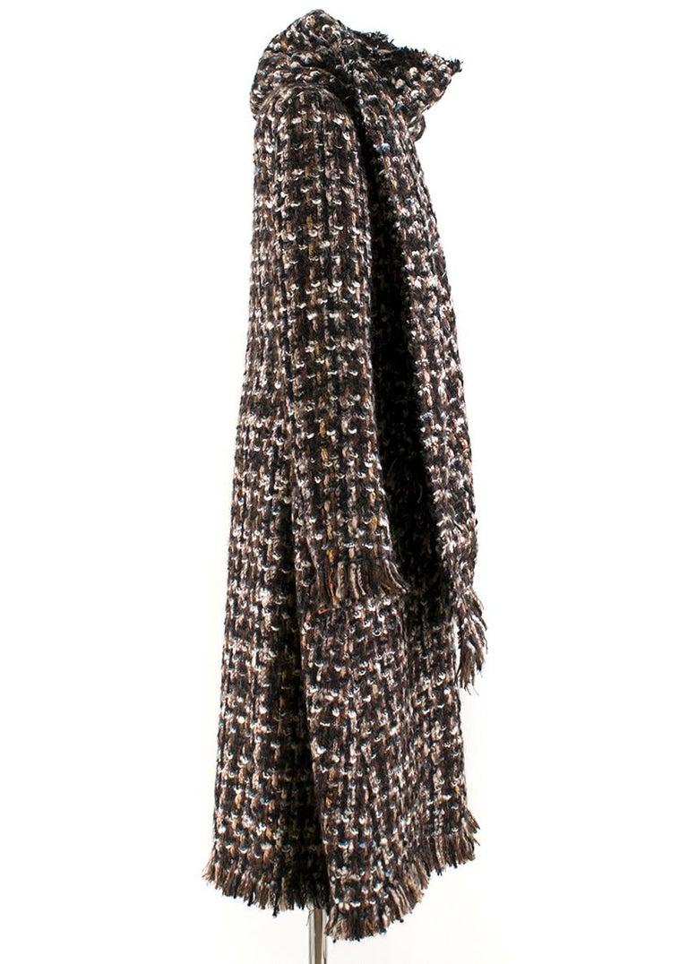 Black Alexander McQueen Wool Braided Long Coat US 4 For Sale