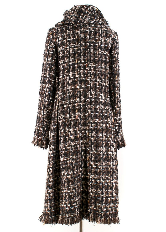 Women's Alexander McQueen Wool Braided Long Coat US 4 For Sale