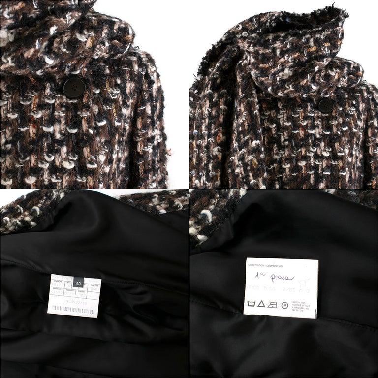 Alexander McQueen Wool Braided Long Coat US 4 For Sale 1
