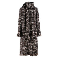 Alexander McQueen Wool Braided Long Coat US 4