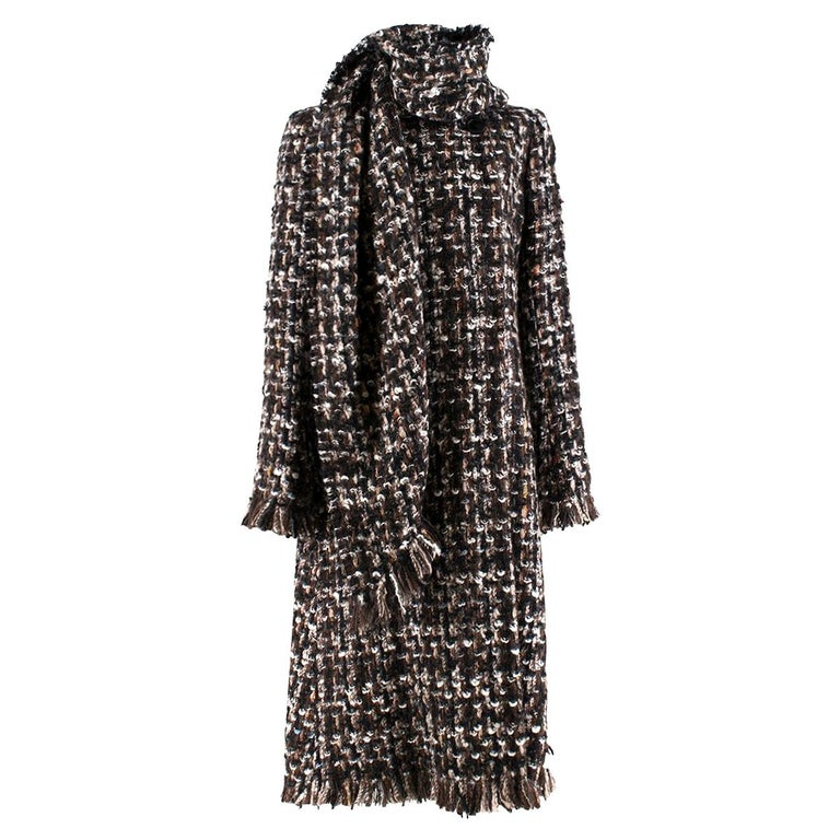 Alexander McQueen Wool Braided Long Coat US 4 For Sale