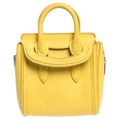 Alexander McQueen Yellow Leather Mini Heroine Bag