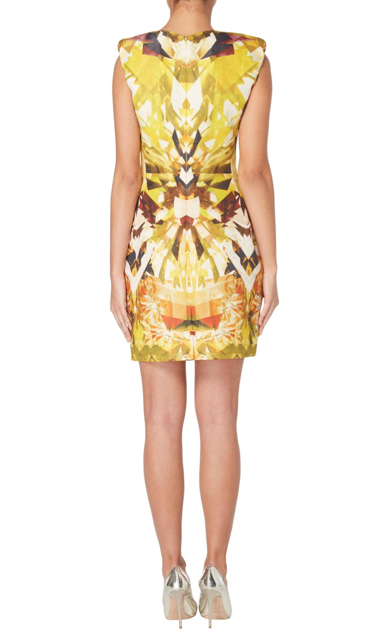 Alexander McQueen, Yellow print dress, Spring/Summer 2009  In Good Condition For Sale In London, GB