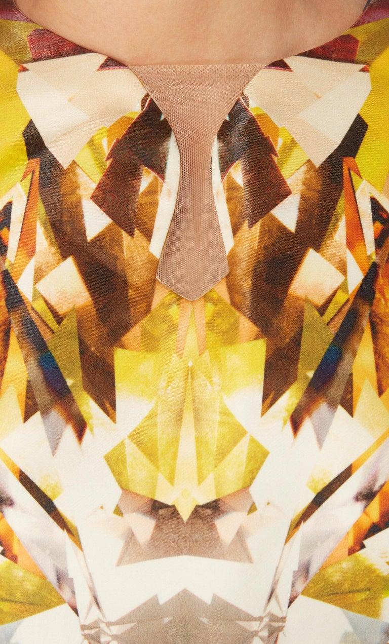 Women's Alexander McQueen, Yellow print dress, Spring/Summer 2009  For Sale