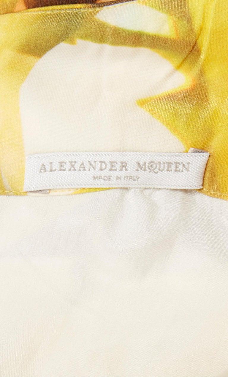 Alexander McQueen, Yellow print dress, Spring/Summer 2009  For Sale 1