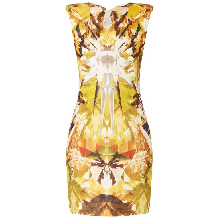 Alexander McQueen, Yellow print dress, Spring/Summer 2009  For Sale
