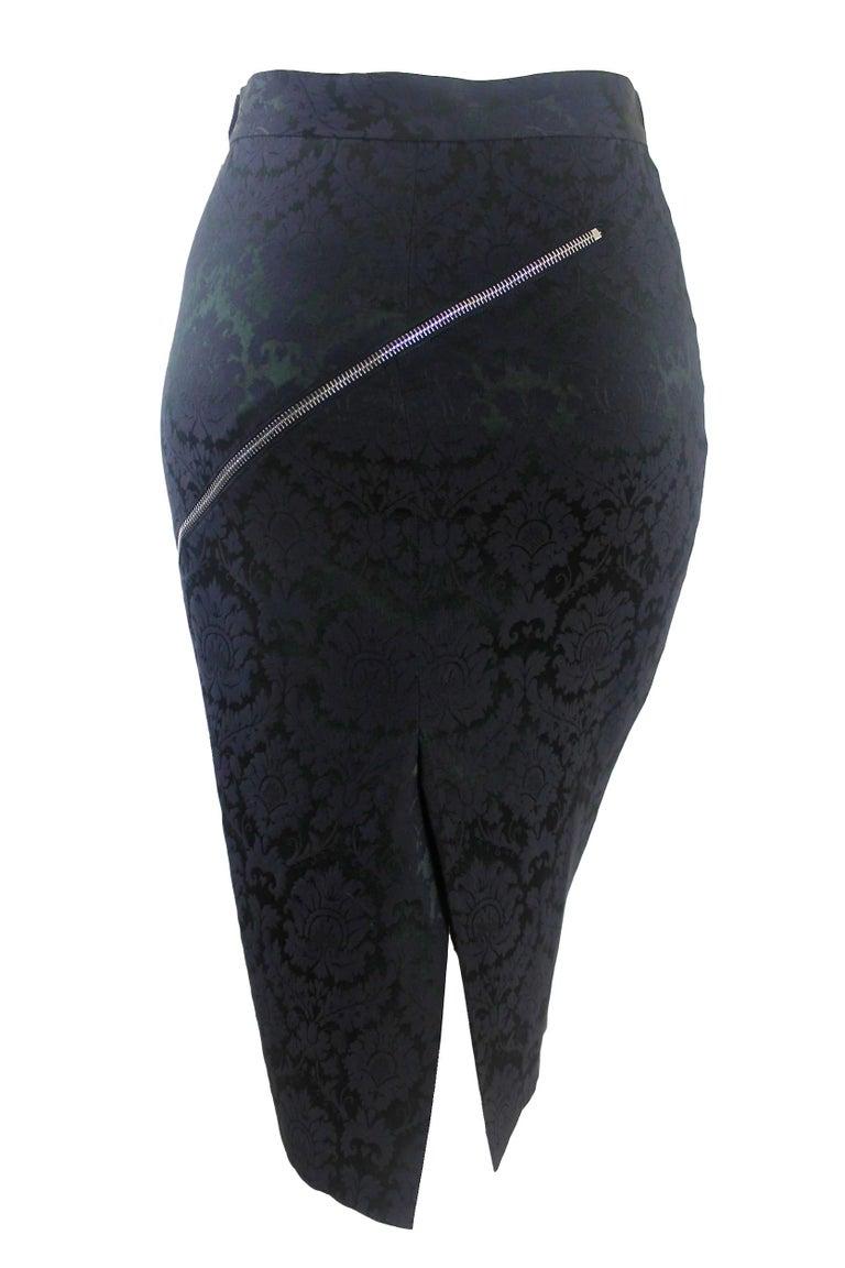 Women's Alexander McQueen Zipper Skirt 1997 Collection For Sale