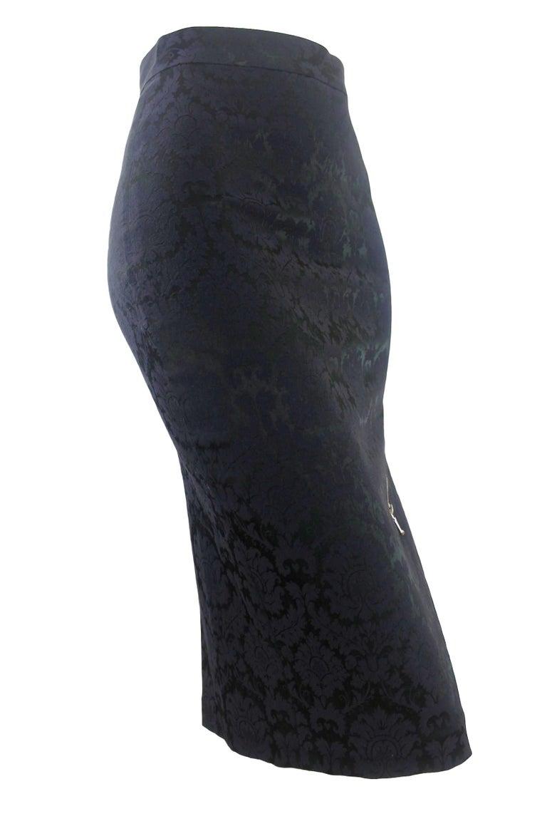 Alexander McQueen Zipper Skirt 1997 Collection For Sale 1