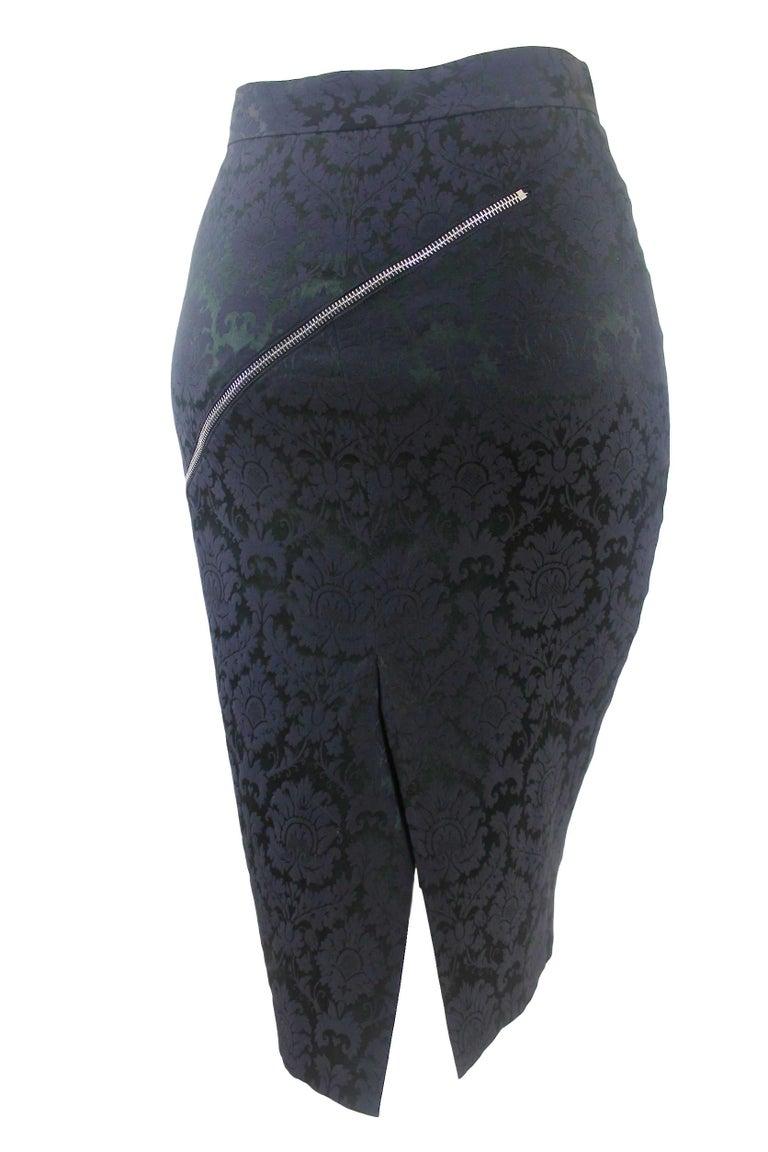 Alexander McQueen Zipper Skirt 1997 Collection For Sale 2