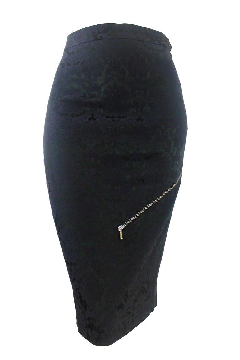 Alexander McQueen Zipper Skirt 1997 Collection For Sale 4