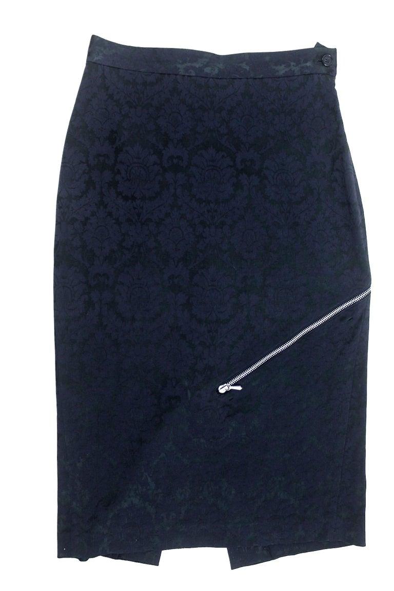 Alexander McQueen Zipper Skirt 1997 Collection For Sale 5