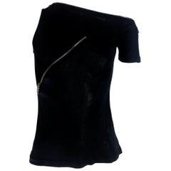 Alexander McQueen Zipper T-Shirt Spring/Summer 1997 Show
