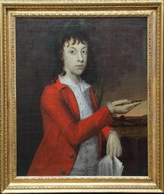 Portrait of Boy Painting - Thomas or John Wagstaff - Scottish 18thC oil painting
