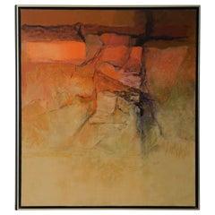 "Alexander Nepote ""Arizona Radiant Cliff"" Modernist Landscape, circa 1970"