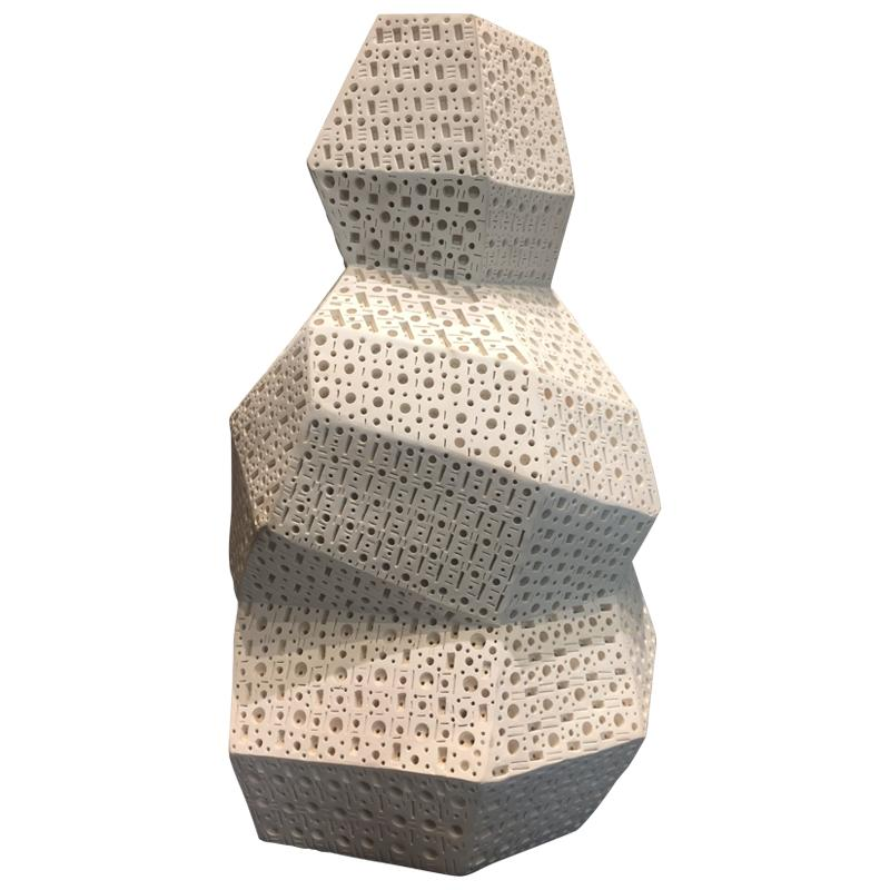 Alexander Ney, Abstract Perforated Terracotta Sculpture, 2012