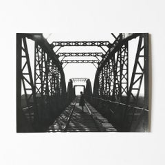 Railway Bridge, Silver Gelatin Print, Constructivism, Modern Art, 20th Century
