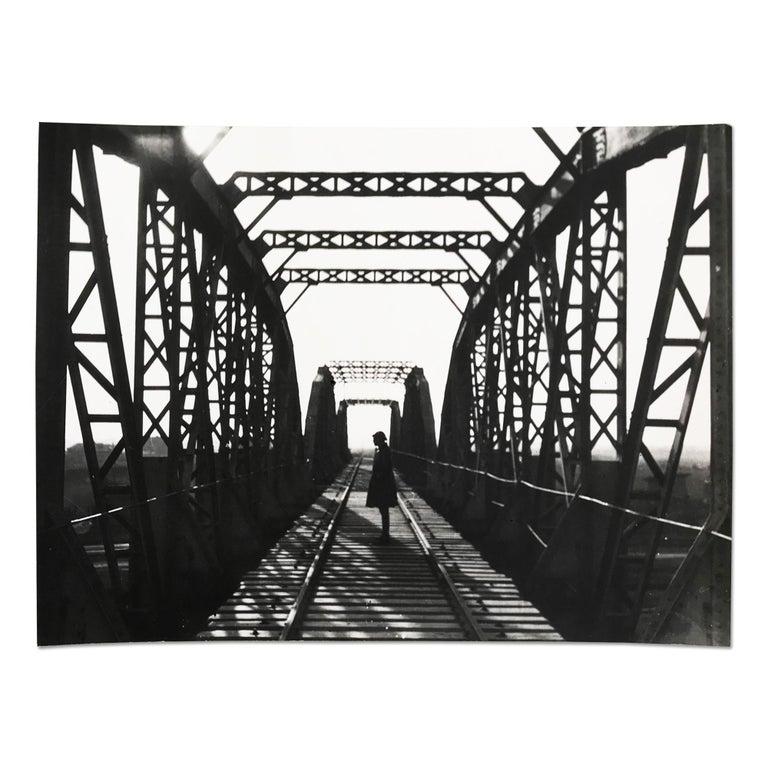 Alexander Rodchenko Landscape Photograph - Railway Bridge, Silver Gelatin Print, Constructivism, Modern Art, 20th Century