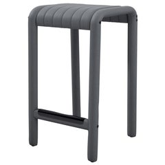 Alexander Street Counter Stool by Philippe Malouin in Perforated Leather