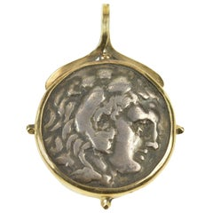 Alexander The Great Authentic Greek Coin Pendant