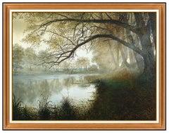 Alexandre Orlov Original Oil Painting On Canvas Large Signed Landscape Alexander