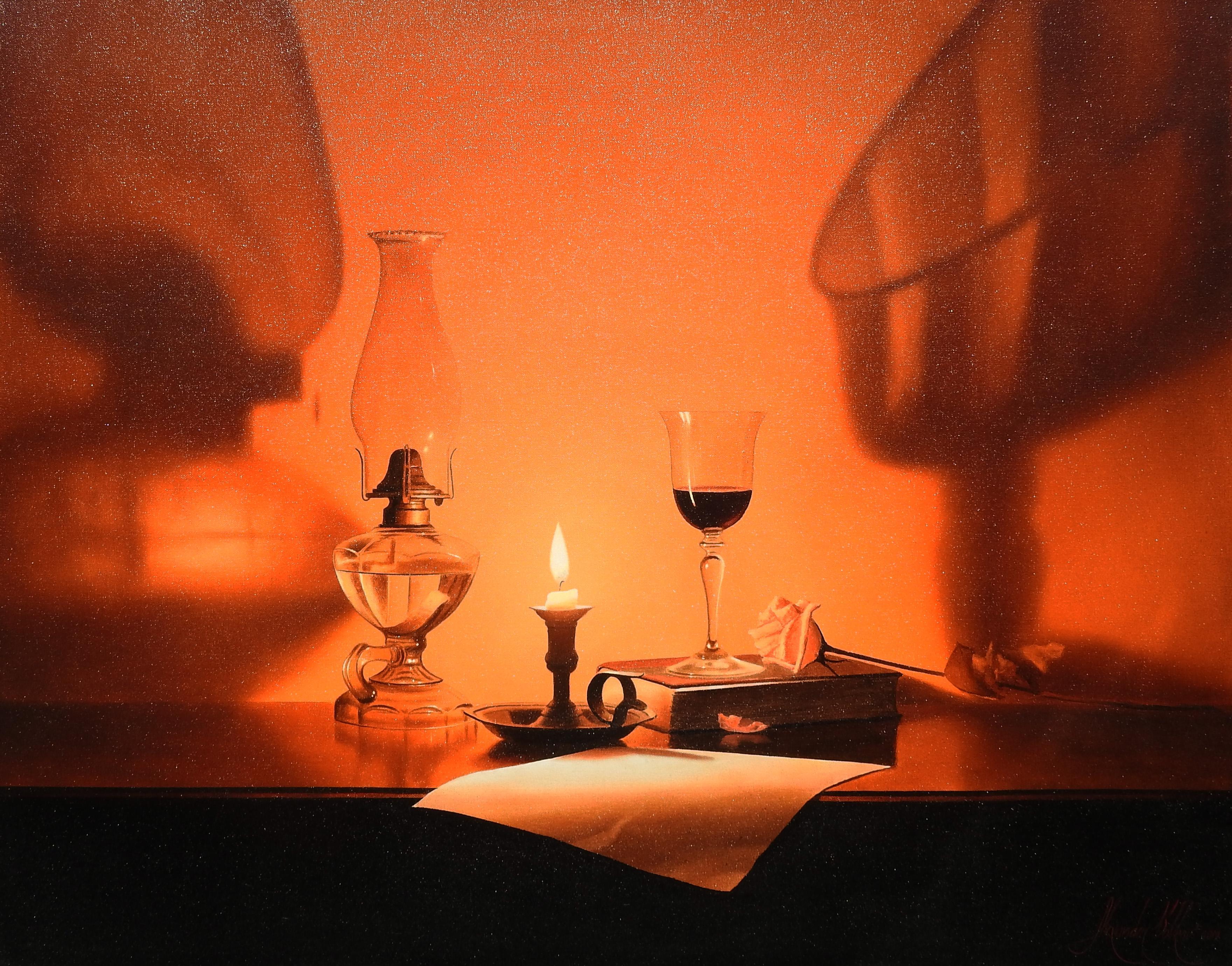 """P.S. I Love You"", Alexander Volkov, 30x40, Oil on Canvas, Realistic, Still-Life"