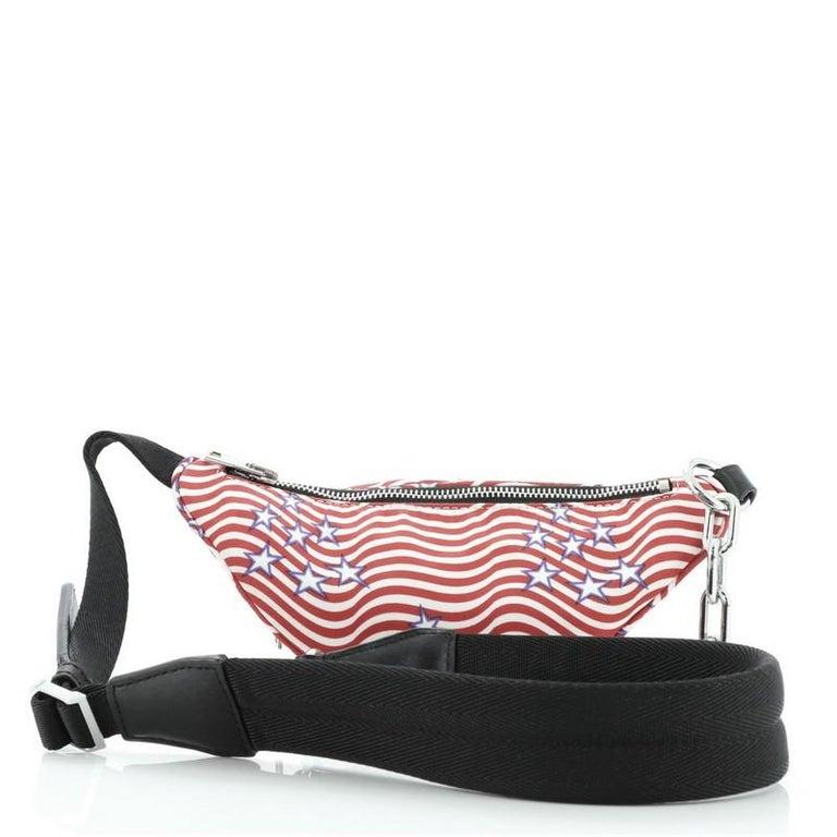 Beige Alexander Wang Attica Waist Bag Printed Nylon Mini For Sale