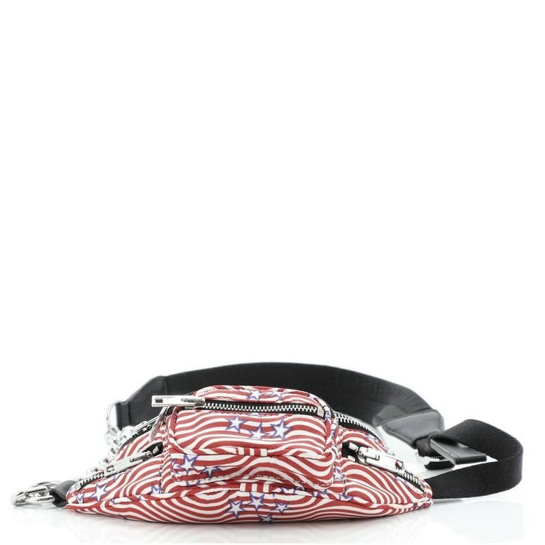 Alexander Wang Attica Waist Bag Printed Nylon Mini In Good Condition For Sale In New York, NY