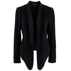 Alexander Wang Black Cropped Tuxedo Jacket - Size US 4