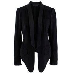 Alexander Wang Black Cropped Tuxedo Jacket XS 8