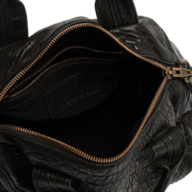 Alexander Wang Black Leather Rocco Duffle Bag For Sale 6