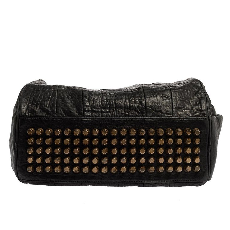 Alexander Wang Black Leather Rocco Duffle Bag For Sale 1